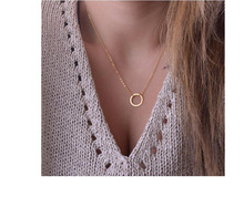 Europe and the United States necklace female accessories manufacturer direct wholesale metal necklace pendant fashion simple joker han edition necklace
