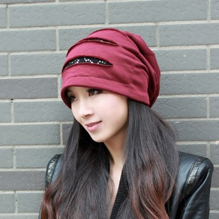 Hat female Korean tidal spring and winter cap piles of Korean fashion travel hedging cap hat scarf headgear