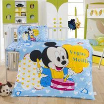 靓妆 Cotton Kindergarten Quilt Three pieces set containing core cotton bedding crib kit Bedding Six-piece set