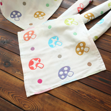 Foreign trade children's handkerchief cartoon small handkerchief mushrooms Pure cotton multi-layer cotton towel wipes Japan