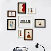 丽美实木照片墙创意挂墙相框组合欧式简约小墙面相框墙时尚相片墙