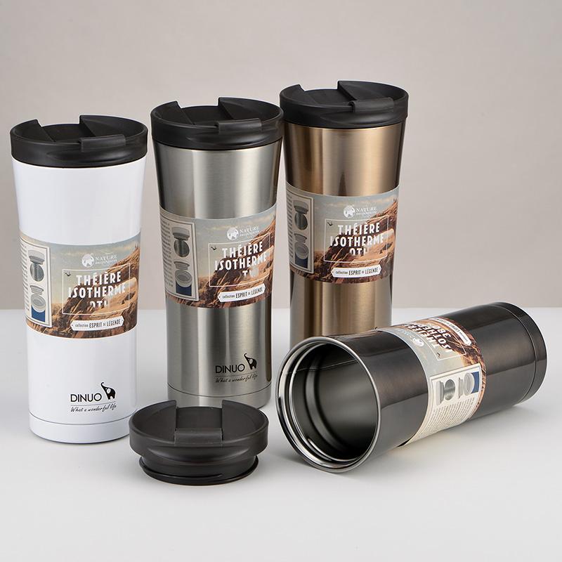 迪諾 不鏽鋼保溫杯男女士咖啡杯學生定製水杯子便攜刻字 隨行杯