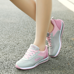 Fall/winter women''s sneaker fall 2015 women running shoe mesh breathable genuine female slip sneakers