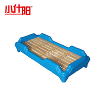 Small Shiyang Kindergarten special bed baby plastic bed roller plastic bed kindergarten cot student Lunch bed