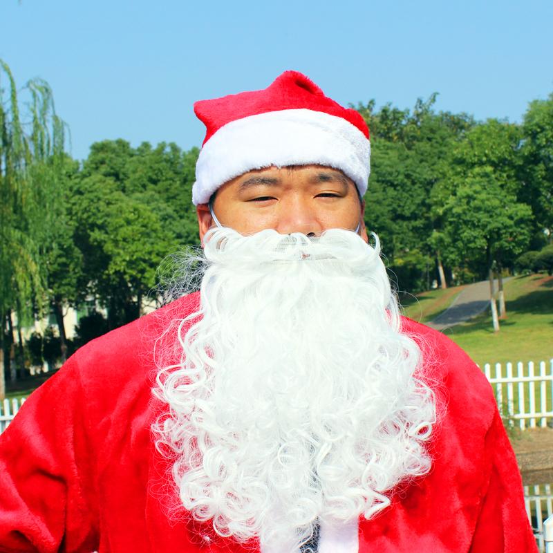 Санта-Клаус Рождество парик волос Санта-Клауса борода поддельные бороды для мужчин и женщин одеваться реквизит