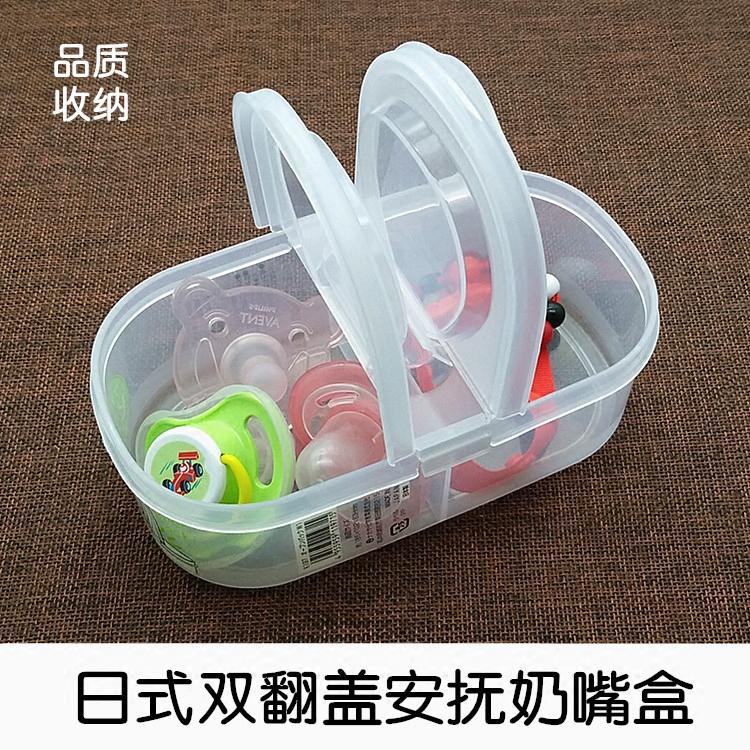 Ребенок ребенок успокаивать ниппель коробка в коробку ниппель цепь прорезыватель укусить большой пластиковый калибр ниппель коробка