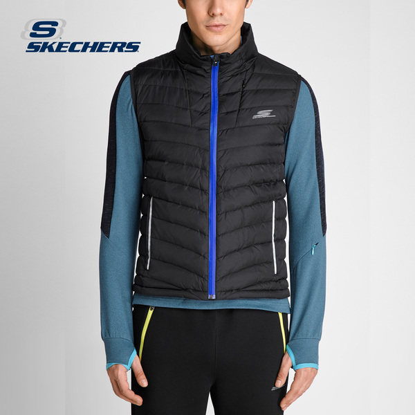 Skechers SKECHERS men's fashion short paragraph vest Lightweight and comfortable down vest wild SAMF16015
