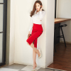 Sexy temperament dress spring and autumn 2017 new Korean fashion Slim package hip career skirt suit two-piece