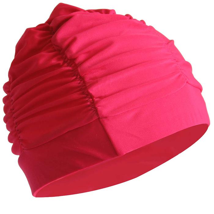 游泳帽女長髮韓國時尚可愛寬鬆大碼布料印花不勒頭女士新款酷動城