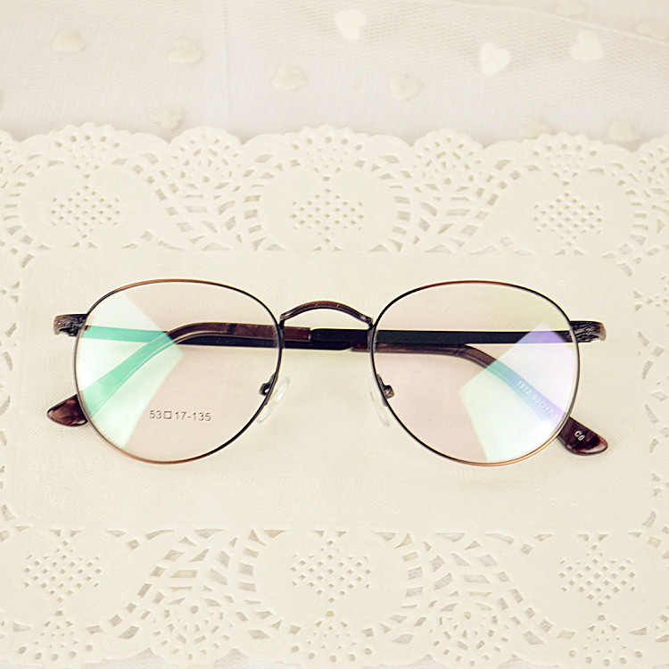 0dfe7b25e5 Harajuku retro art thin circular metal eyeglass frame can be equipped with myopia  frames tide Korean men and women the same paragraph ultralight manual