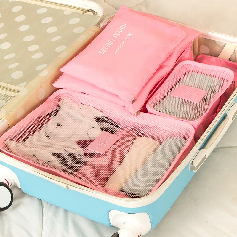 Путешествие чистый черный мешок багажник одежда разбираться пакет путешествие часто оборудование одежда хранение нижнее белье разбираться мешок 6 костюм
