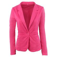 5465#速卖通亚马逊热卖糖果色休闲上衣小外套 一粒扣女士西装西服