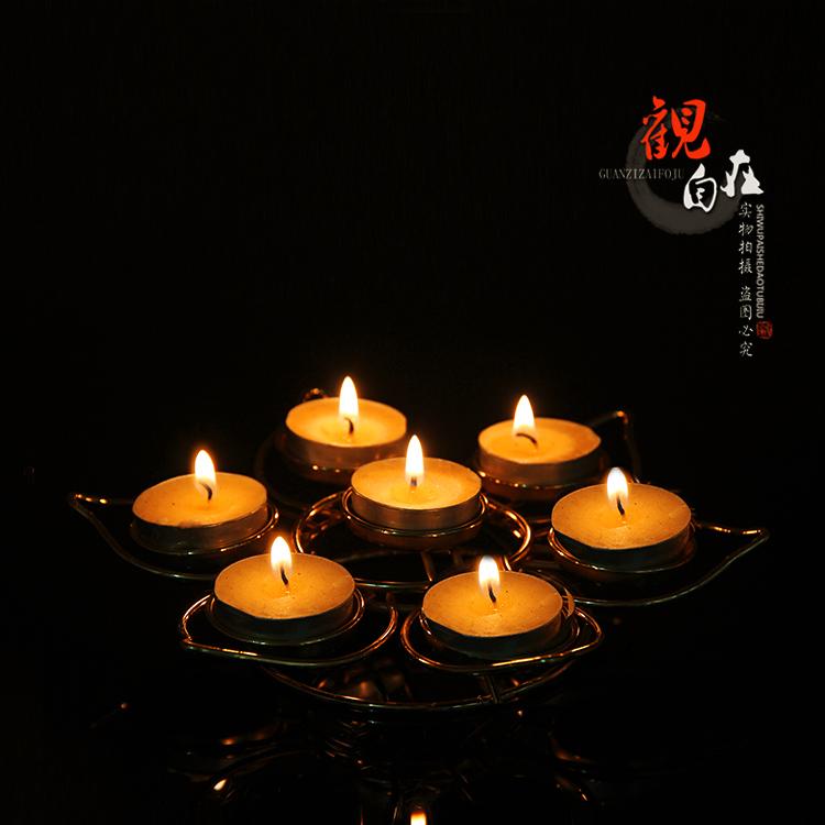 7 Star Plum Ghee свет полка свет Подсвечник лотоса свет Будда свет для свет высокая 4 см в ширину и 20 см