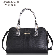 Ladies fall/winter bag 2015 new wave female header layer of leather snake animal leather Sling bag