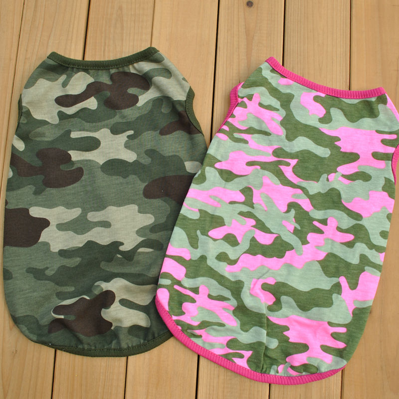 [Ding Dong] pet clothing foreign trade original single dog clothing beautiful two-color vest