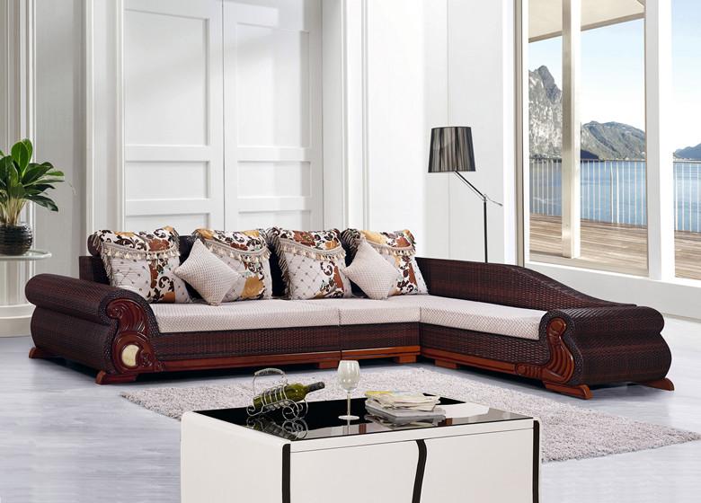 藤沙发 组合 客厅 小户型 转角沙发藤椅住宅家具 布艺沙发 包邮