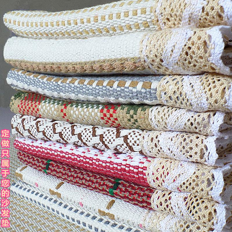 Подушки на диване хлопок конопля грубый рука скольжение ткань четыре сезона подушка общий простой современный полное покрытие универсальный диван крышка полотенце