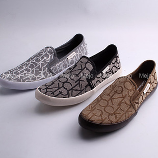 2015 new foreign trade export of the original single big jacquard shoes lazy shoes canvas shoes counter with money