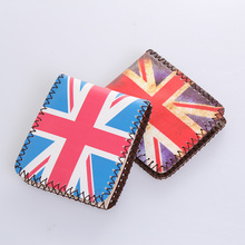 Students graffiti handmade wallets adolescent personality animated cartoon wallet fashion han edition men's and women's wallet is brief paragraph