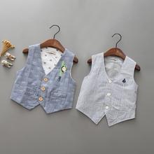 儿童薄款棉马甲  2020新款男童春秋季韩版开衫背心宝宝夏季西装