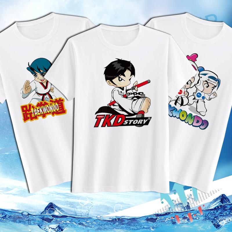 Сделанный на заказ тхэквондо T футболки рубашка тхэквондо одежда хлопка кардинг сочувствовать хлопок тхэквондо дорога одежда