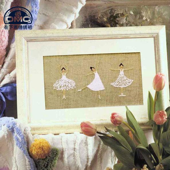 Специальные DMC крест стежка небольшие картины свежей и точной печати Новый мультфильм балет девушка белья