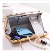 Dinner packages in one shoulder aslant bag chain bag mini makeup bag hand bag phone bag BaoChao European diamond woman