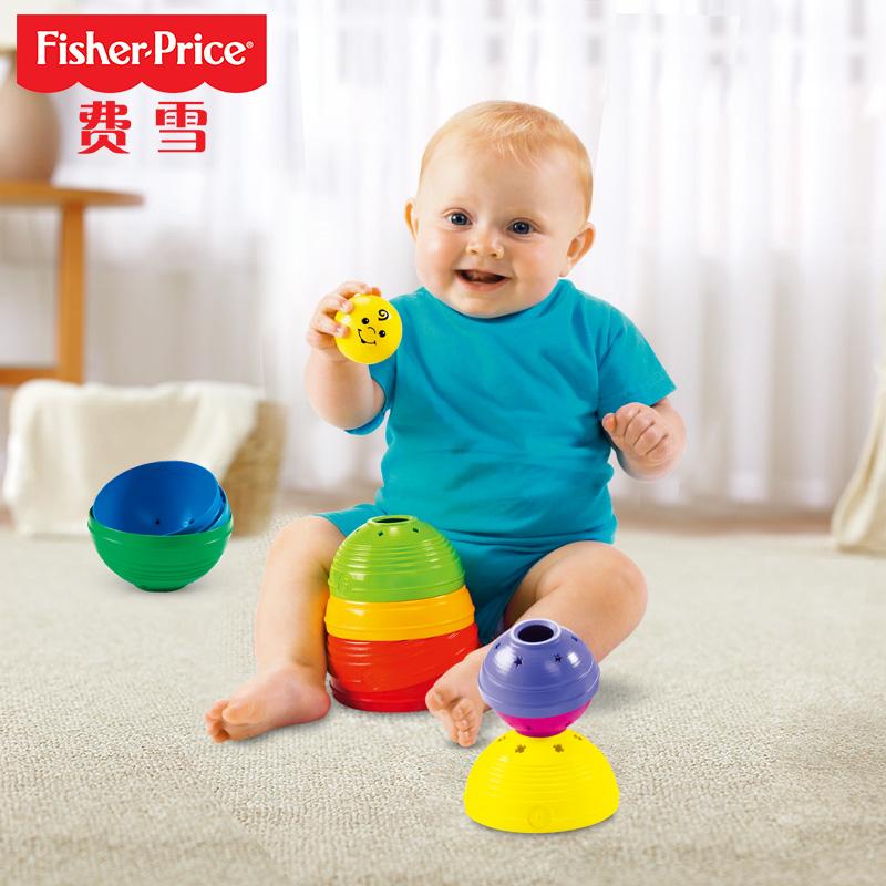 ~天貓超市~費雪嬰幼兒層疊彩虹杯兒童疊疊樂寶寶益智玩具K7166