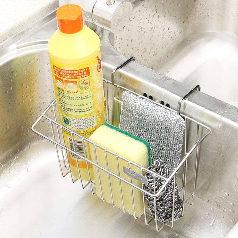 Кухня нержавеющей стали колыбель мыть чаша ткань хранение 304 стеллажи аквариум дренажный полка тряпка мыть блюдо бассейн настенный корзина