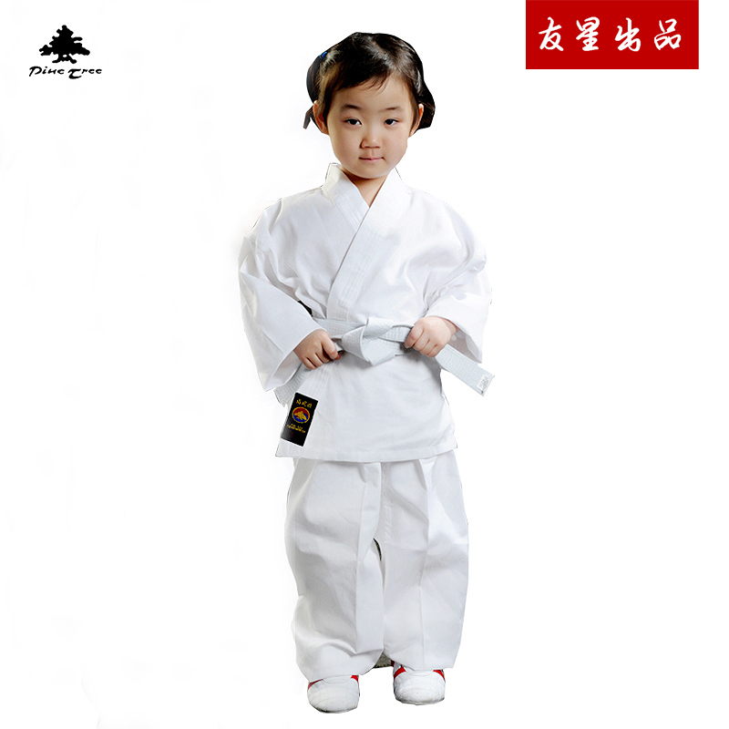 [松树pinetree空手道服春夏] длинный рукав белый [比赛训练服成人] детские стиль бесплатная доставка по китаю
