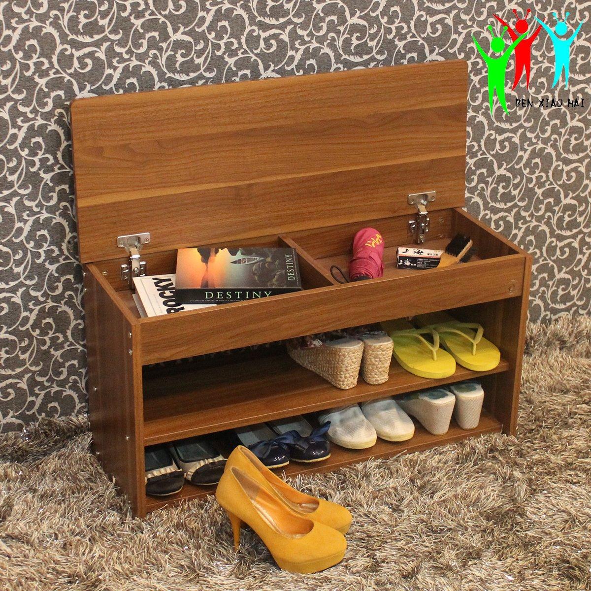 笨小孩 翻蓋儲物鞋凳 多 換鞋凳 簡約客廳收納換鞋櫃