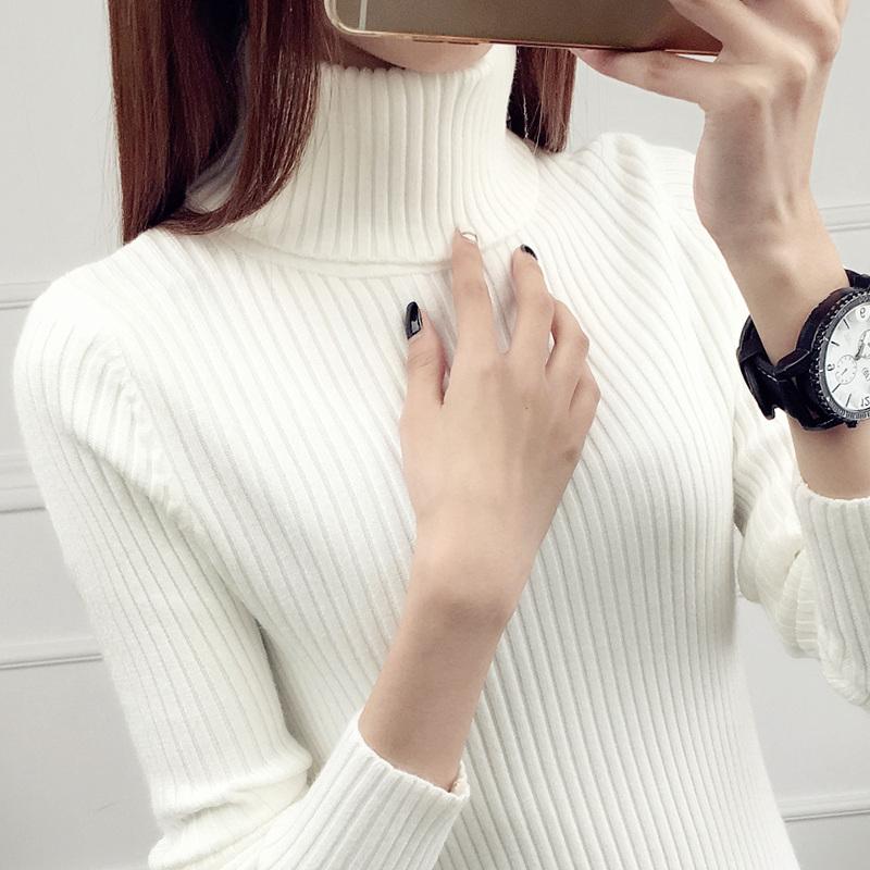 高领毛衣女装秋冬季新款2018网红短款内搭套头加厚长袖针织打底衫