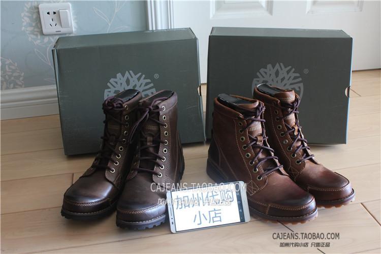 美国专柜正品 timberland 天柏岚 15550 15551男士高帮靴