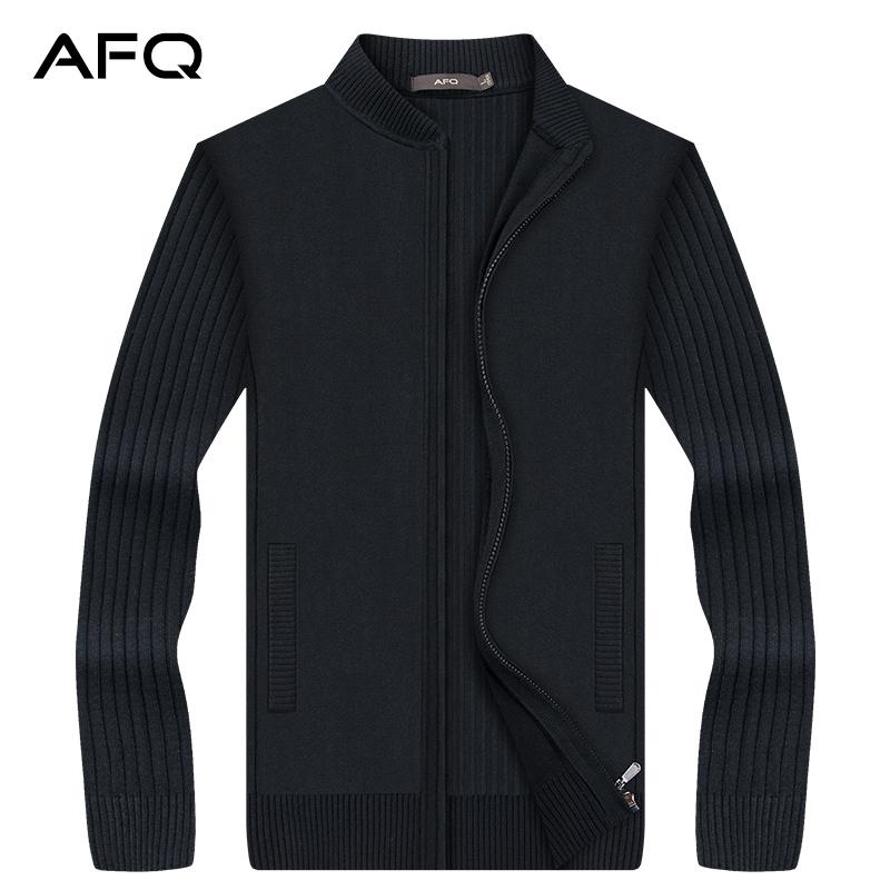 2017冬季男士开衫毛衫外套 男棒球立领男装拉链针织衫休闲毛线衣