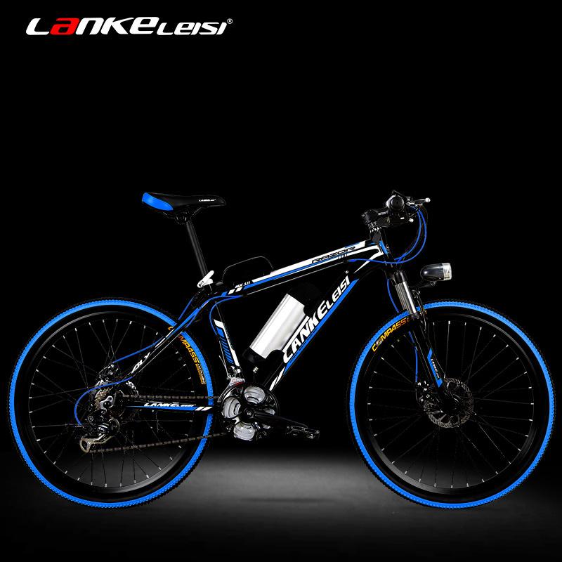 Синий грамм хуарес электрический велосипед 26 дюймовый 36/48V алюминиевых сплавов литий шаг горный велосипед для взрослых мощность автомобиль