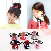 Know Richie children''s hair accessories hand-knitted wool deer Hat hair rope girls tiara baby string jewelry