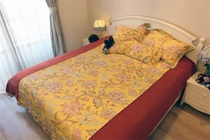 Saint Chini American imported cotton pk Bedding custom Four pieces set American idyllic emperor yellow