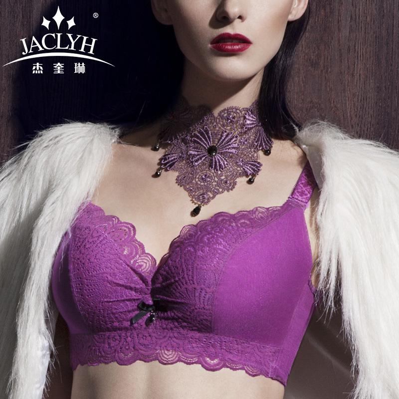 杰奎琳薄款蕾丝文胸 士大胸聚拢防下垂外扩调整型内衣四排扣胸罩