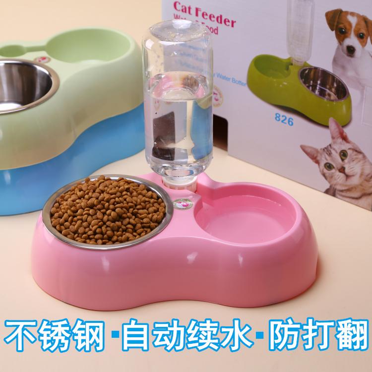 Нержавеющей стали автоматическая питьевой собака чаша кот чаша домашнее животное статьи собака бассейн кот бассейн собака блюдо собака двойной чаша работа еда бассейн