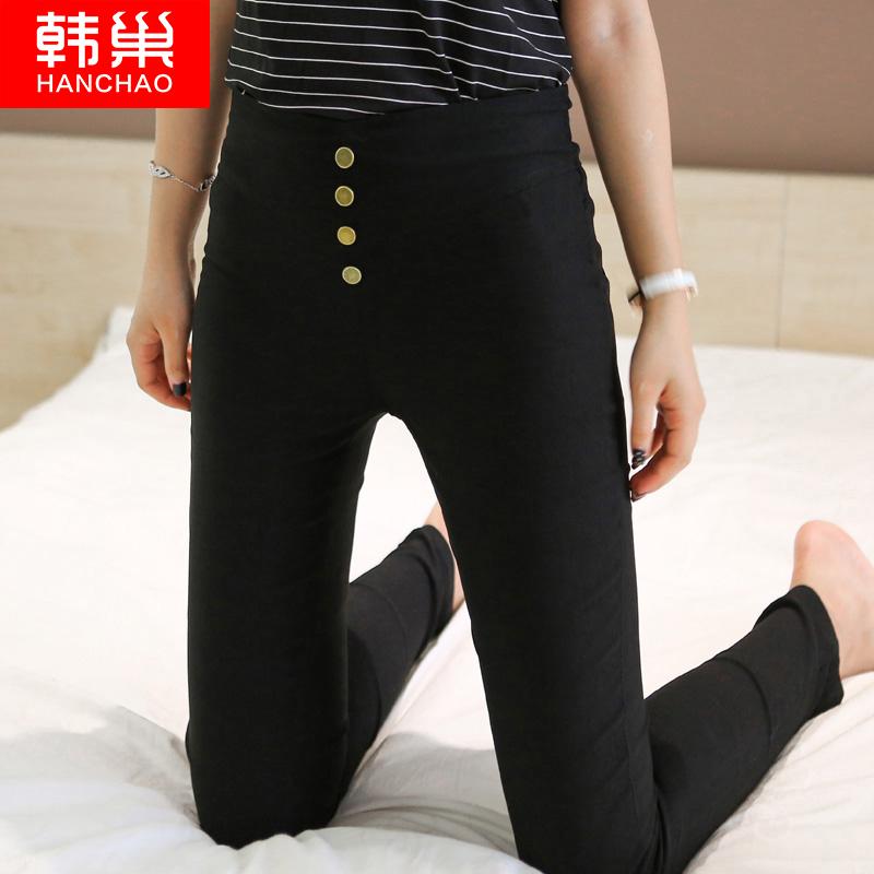 打底裤女薄款2018新款韩版九分高腰显瘦紧身黑色小脚铅笔夏季外穿