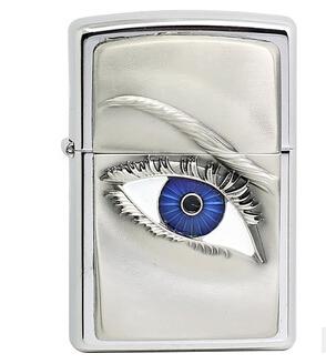 眼镜女人眼睛蓝色2.004.303火机欧版机立体贴章zippo正品