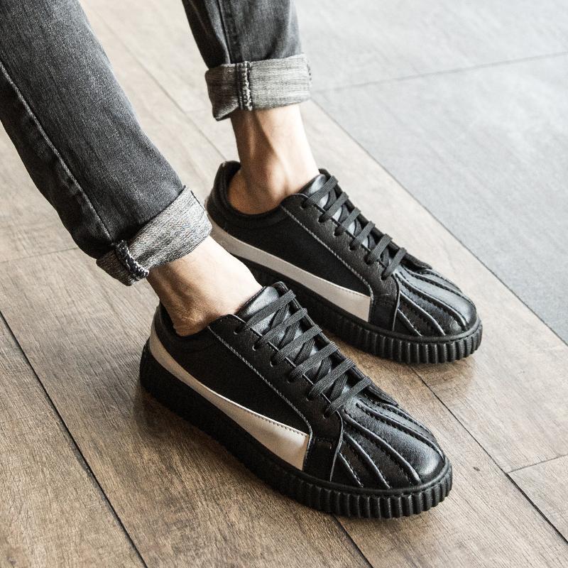 Оболочка глава обувь мужчина корейская волна струиться мужская обувь англия обувь casual оболочка обувной мужчина обувь воздухопроницаемый водонепроницаемый обувь мужчина