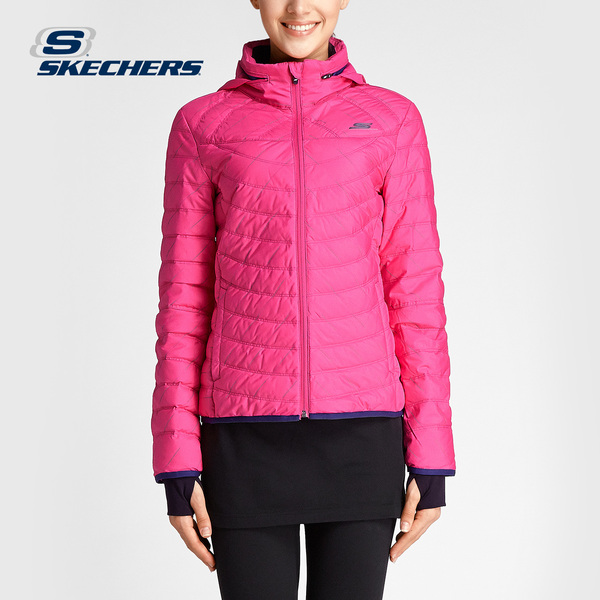 Skechers Skechers hooded down jacket coat 2016 new winter fashion female SAWW16003