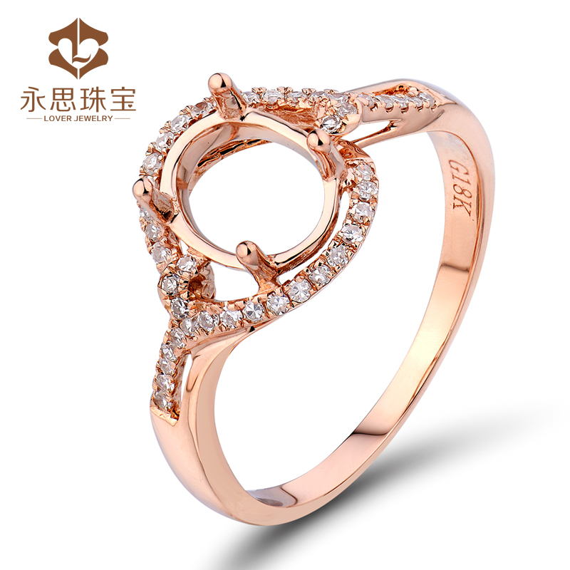 Yongsi jewelry 18K gold ring carrier empty carrier gem carrier ring surface processing inlay processing private customization