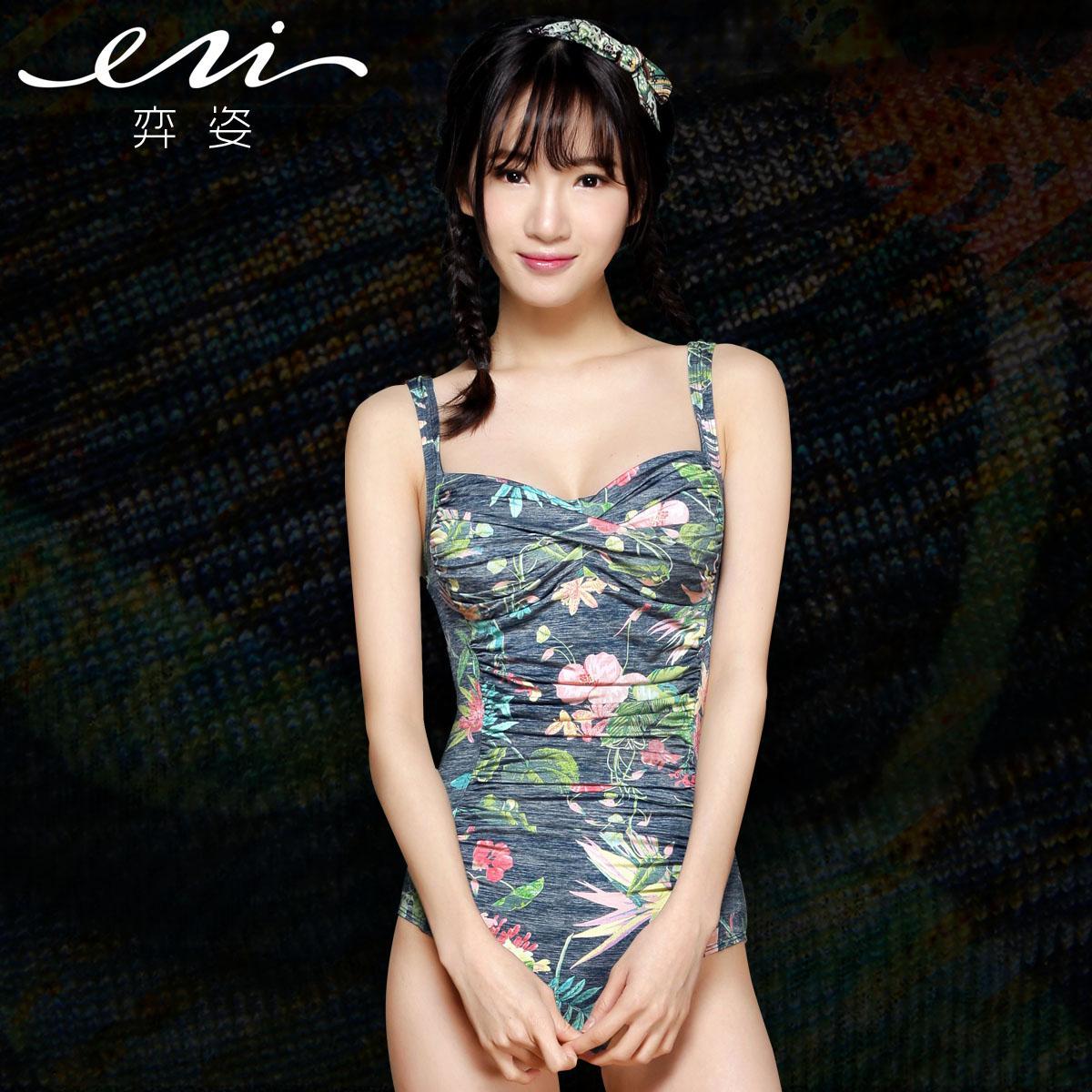 Yi Zi Spa новая Корея маленькие груди держать консервативной сиамской живот slim похудения спа Maillot Ezi1270