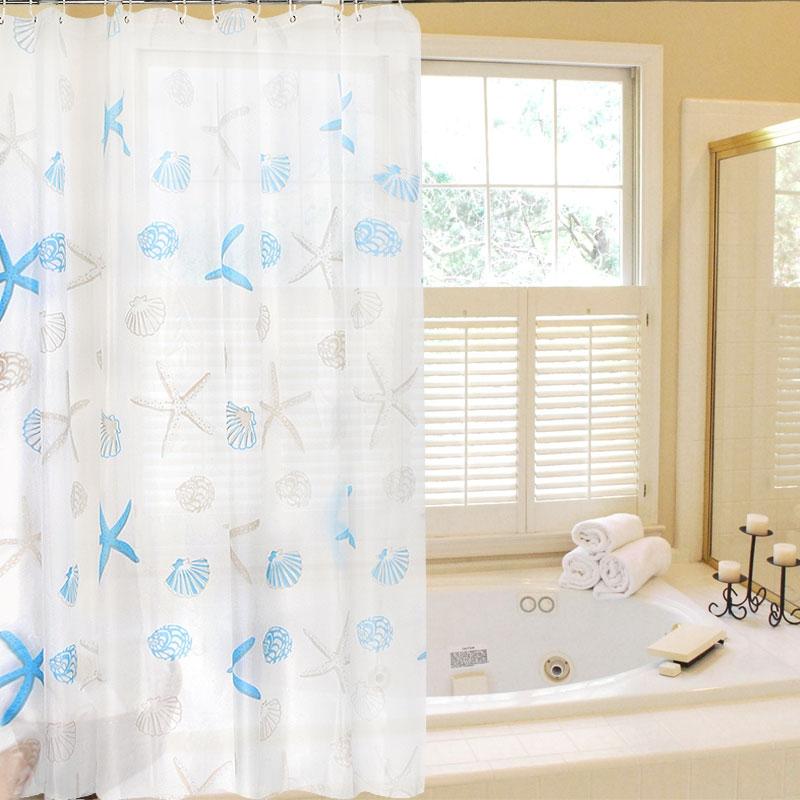 Мода печати ванной передач водонепроницаемый анти плесень ванной занавес ткани PEVA занавес ливня