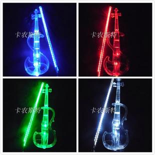 蓝牙高档静音水晶小提琴 演奏级舞台表演专用透明电声电子小提琴