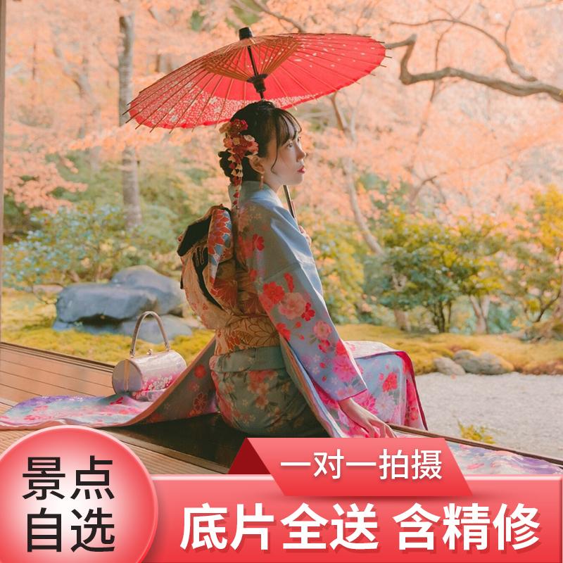 日本旅拍京都清水寺大阪奈良跟拍 和服体验写真摄影 婚纱照亲子照