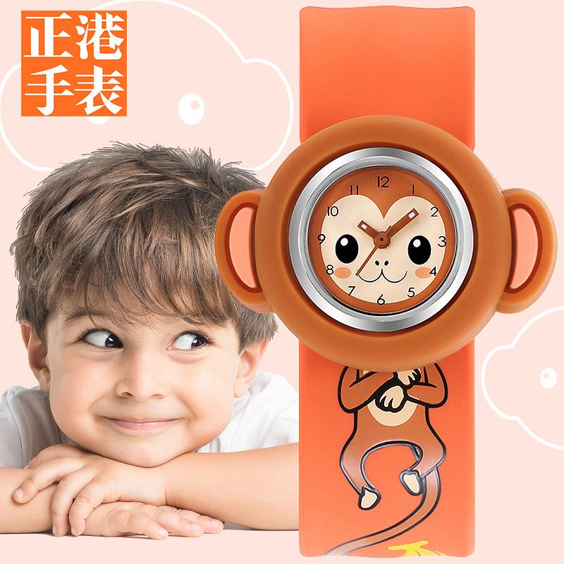 玩具兒童小卡通女孩嬰兒啪啪手表幼兒男童男孩0~3歲2寶寶拍拍防水