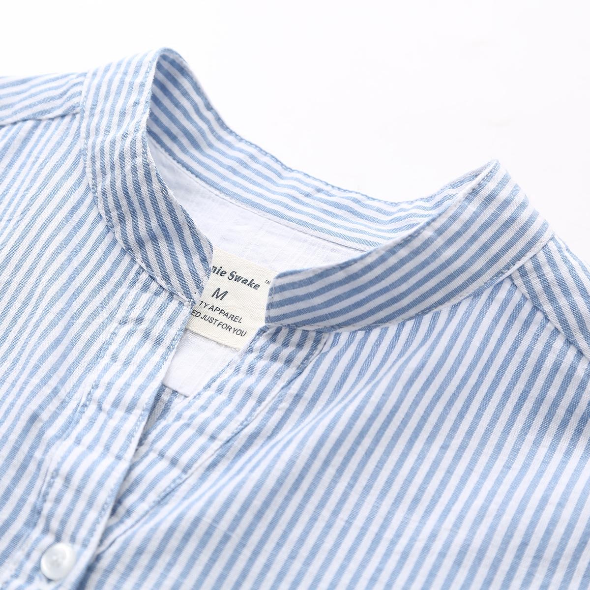 券后59.00元秋季新款韩版小清新竖条纹v领衬衫